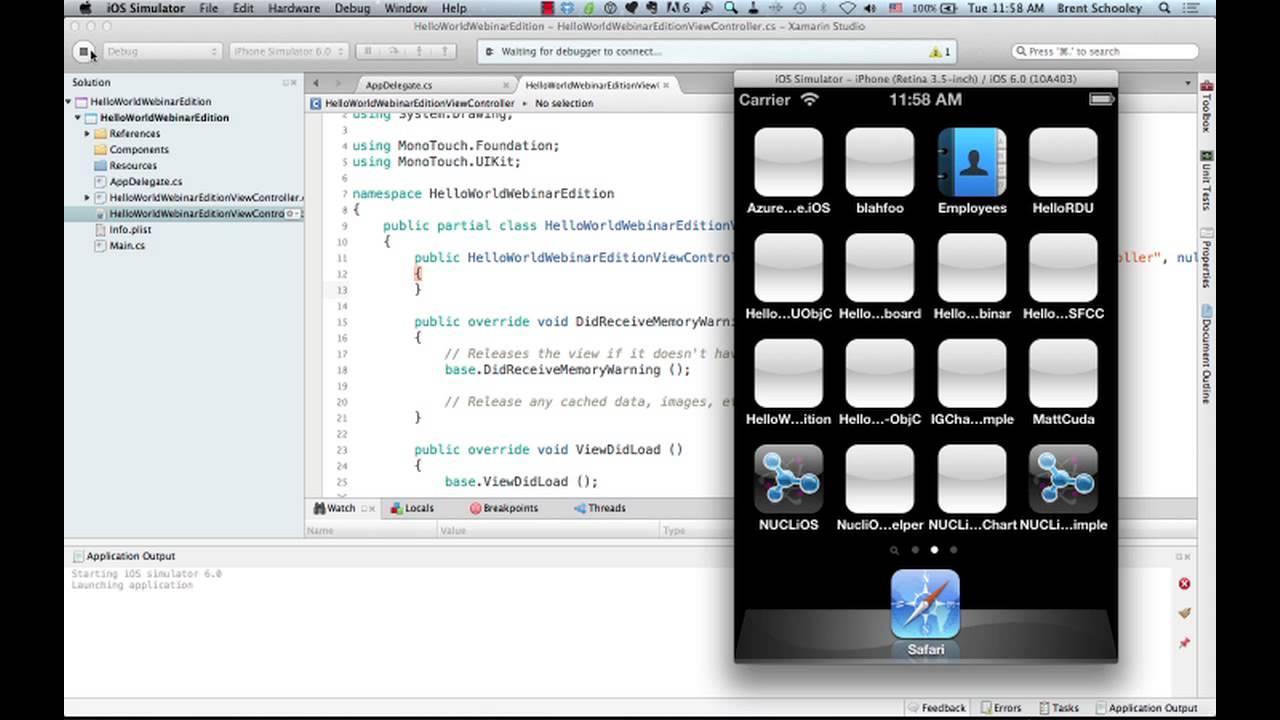 Creating iOS Apps with C# Using Xamarin iOS