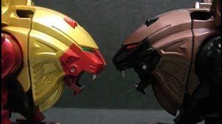 Power Rangers Wild Force Lion vs Lion Megazord Toys  파워레인저 정글포스 사자 vs 사자 로봇 장난감 놀이