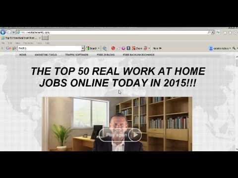 Real Free Legitimate Work from Home Job 2017 Review website Working at Home