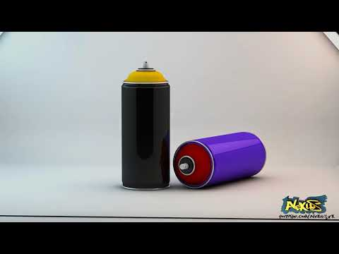 Speed Modelling:  Spray Paint Cans.