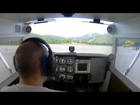 Cessna home cockpit - A flight around Cote d Azur (LFTZ to LFMD)