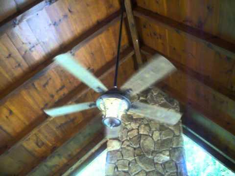 Hampton Bay Veranda 2 Ceiling Fan At Log Cabin Youtube