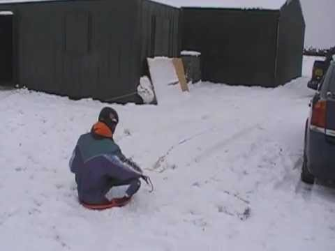 UKPPG Extreme Fun Snow Day Paramotor Sledge, Speed Sledging, Barefoot Skiing, Snow Flying