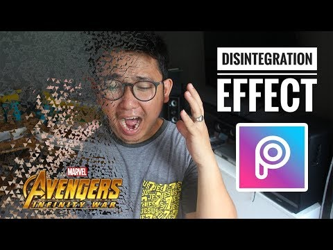 How To Edit Avengers Disintegration Effect Meme Using Picsart - YouTube