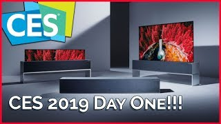 CES 2019 Press Day: LG Rollable TV, New Intel CPUs, 5G, & Widescreen Gaming! - TekThing