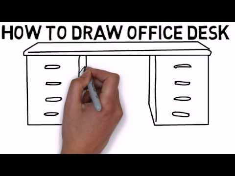 How To Draw Office Desk