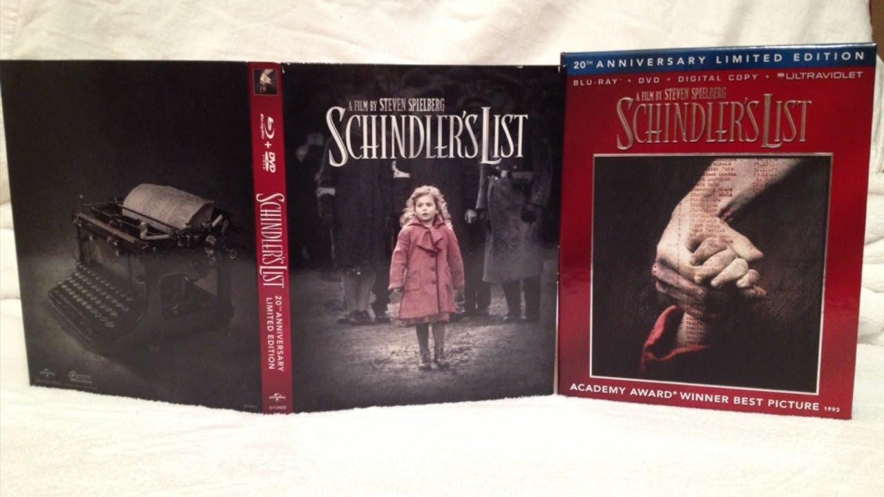 schindler s list blu ray dvd digipack unboxing steven schindler s list blu ray dvd digipack unboxing 1993 steven spielberg