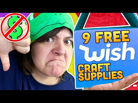I ORDERED 9 FREE ARTS & CRAFT SUPPLIES FROM WISH Cash or Trash?