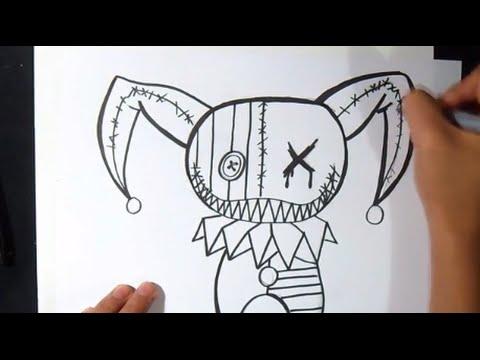 Wie Zu Zeichnen Puppe Clown Graffiti Youtube