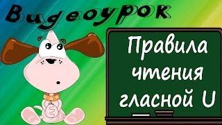 Видеоурок по английскому языку: правила чтения гласной U