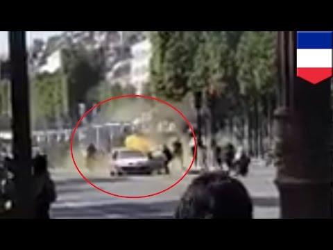 Champs-Elysees attack: Explosive-laden car rams into police van, suspect dead - TomoNews