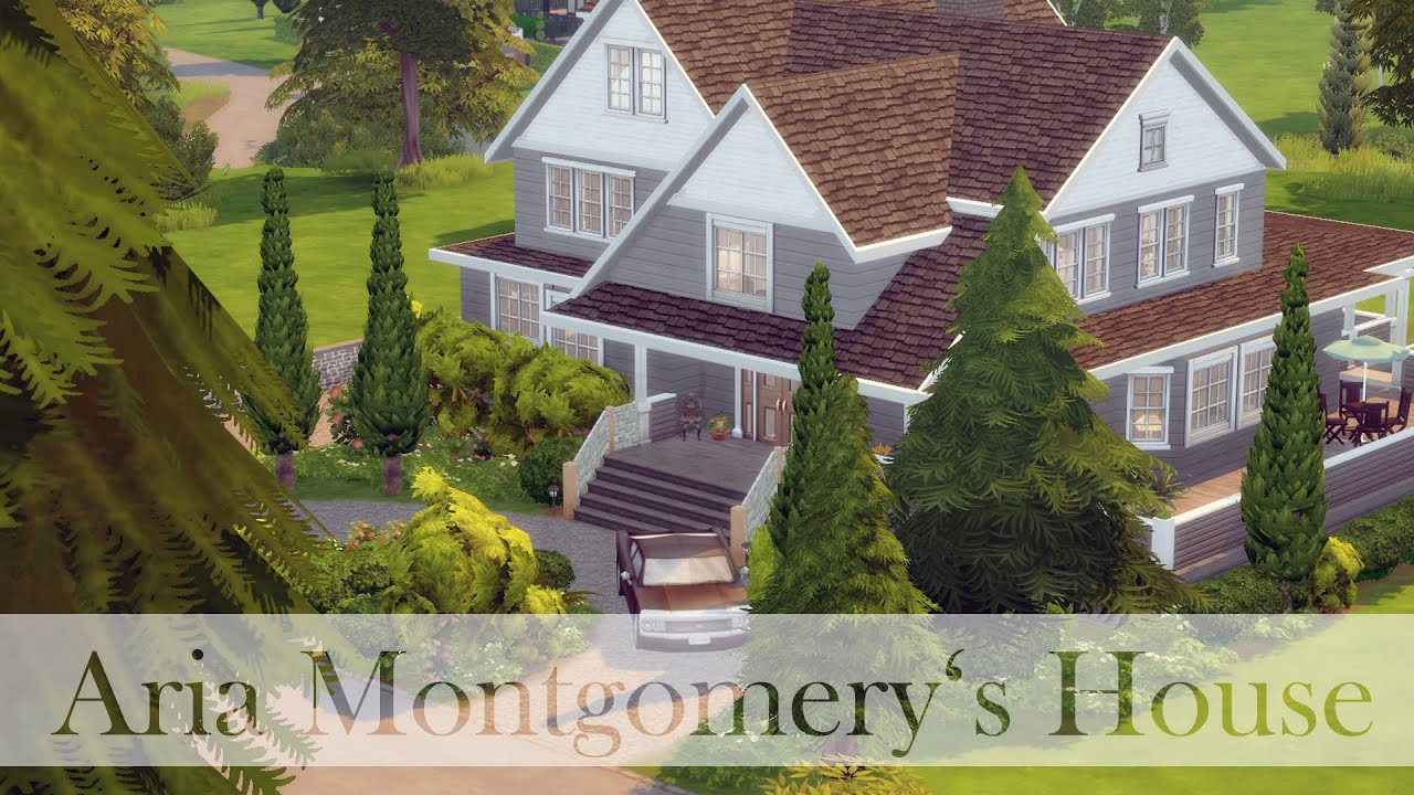 The sims 4 speed build aria montgomery 39 s house part for Montgomery house