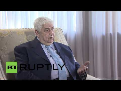 """Russia: FM Muallem questions US policy on """"confronting terrorism in Syria"""""""
