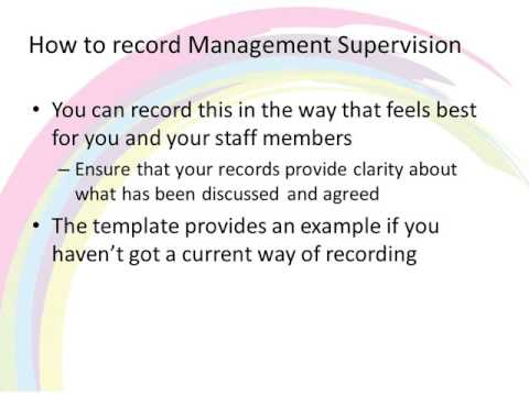 Management Supervision