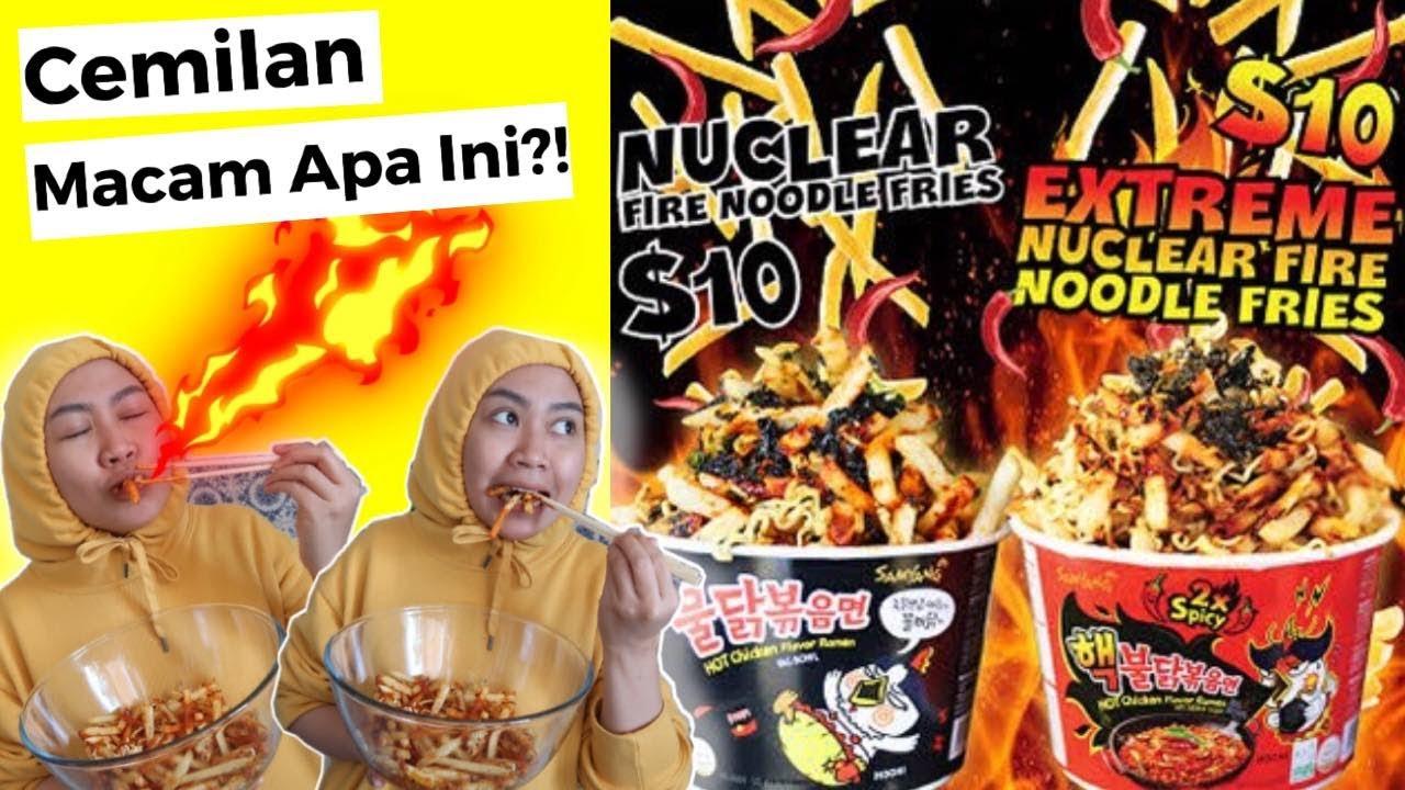 MAKANAN GINIAN LAKU BANGET LOH DI SYDNEY!!! - SAMYANG NUKLIR 3x SPICY + KENTANG GORENG