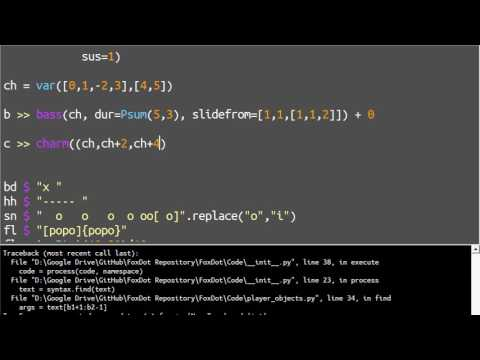 Live Coding in 9/4 with FoxDot - Python and SuperCollider