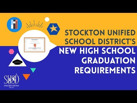 Stockton Unified School District New High School Graduation Requirements