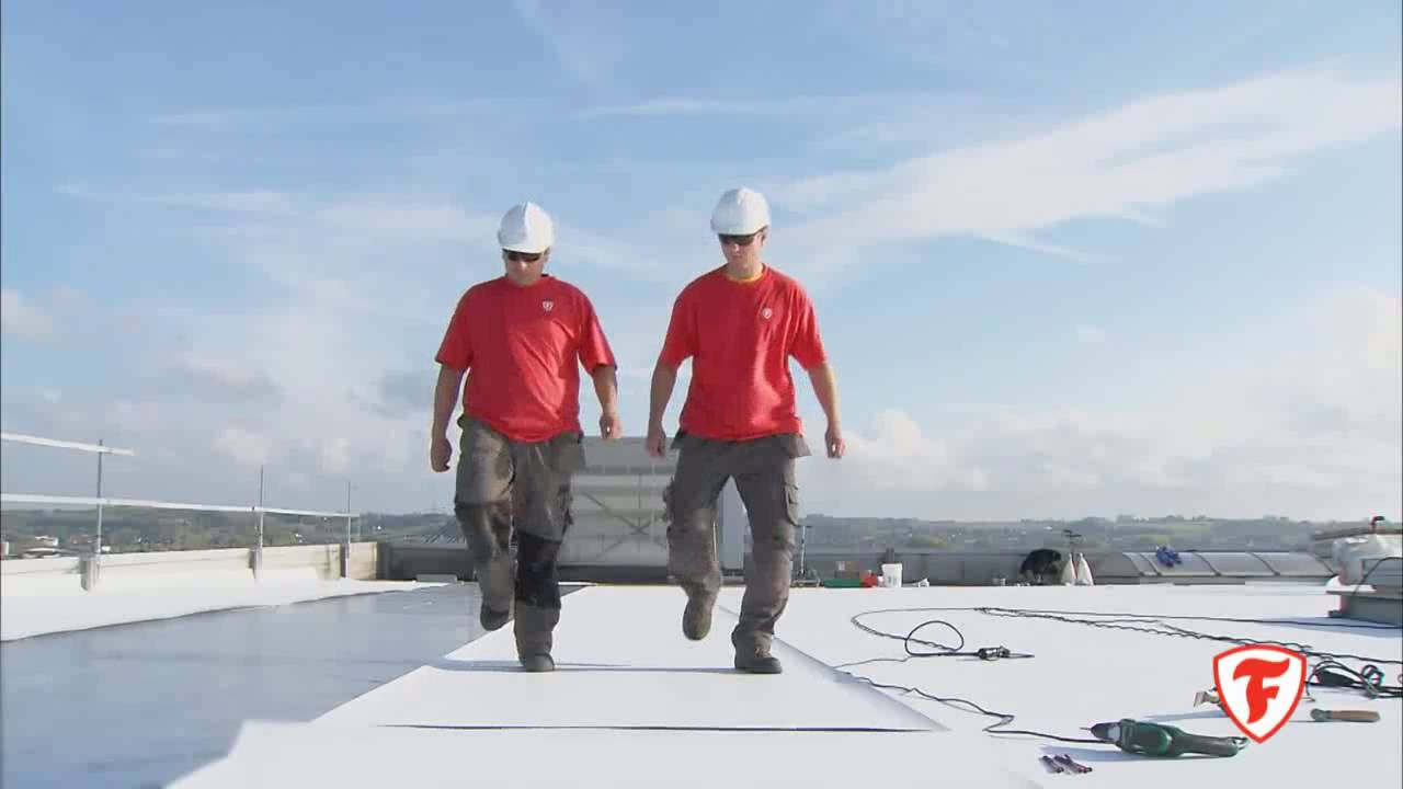 Firestone UltraPly TPO Installation video 1 - YouTube