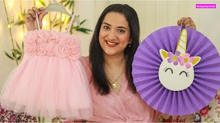 Covid में कैसे करें Baby's First Birthday Party Decoration | Online Decoration + Dresses Haul