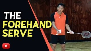 Badminton Tips   The Forehand Serve   Coach Andy Chong