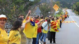 Katalanische Separatisten blockieren nach Spanien-Wahl Grenzübergang zu Frankreich