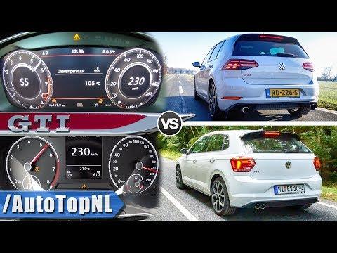 VW Polo GTI 2019 vs 2019 VW Golf GTI 100-230 AUTOBAHN POV & SOUND by AutoTopNL