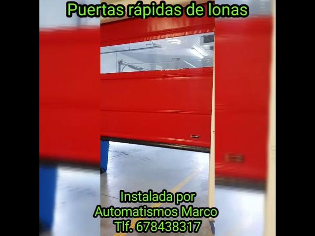 Puerta rápida de lona  Automatismos Marco instala puertas automaticas de uso industrial
