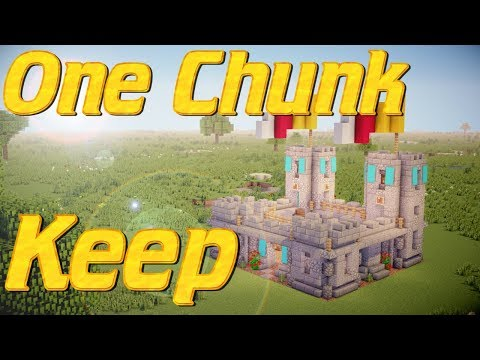 Minecraft:  How to make a Castle In 1 Chunk Tutorial FREEHAND   Castle Keep in One Chunk Tutorial