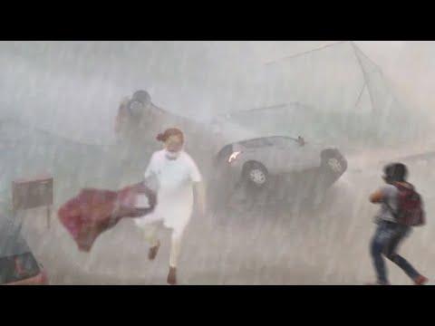 Storm Apocalypse attacked UAE! ⚠️ Huge Hailstorm in Saudi Ar