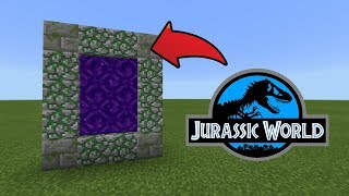 How To Make a Portal to the Jurassic World Dimension in MCPE (Minecraft PE)