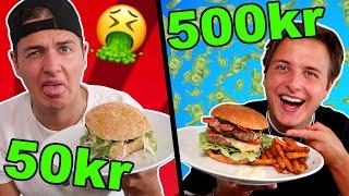 50 kr VS 500 kr BURGER!