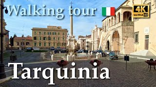 Tarquinia, Italy【Walking Tour】With Captions - 4K