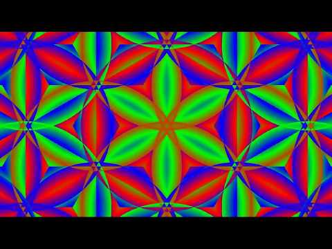 Flower Power for Life ॐ - ( trippy psychedelic visuals Lotus mandala  & fractals zoom, goa trance.)