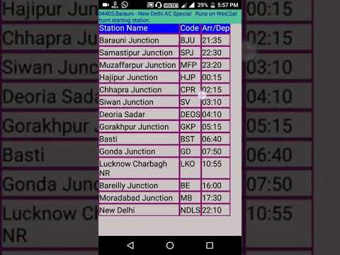 best app for offline train time table explained in hindi