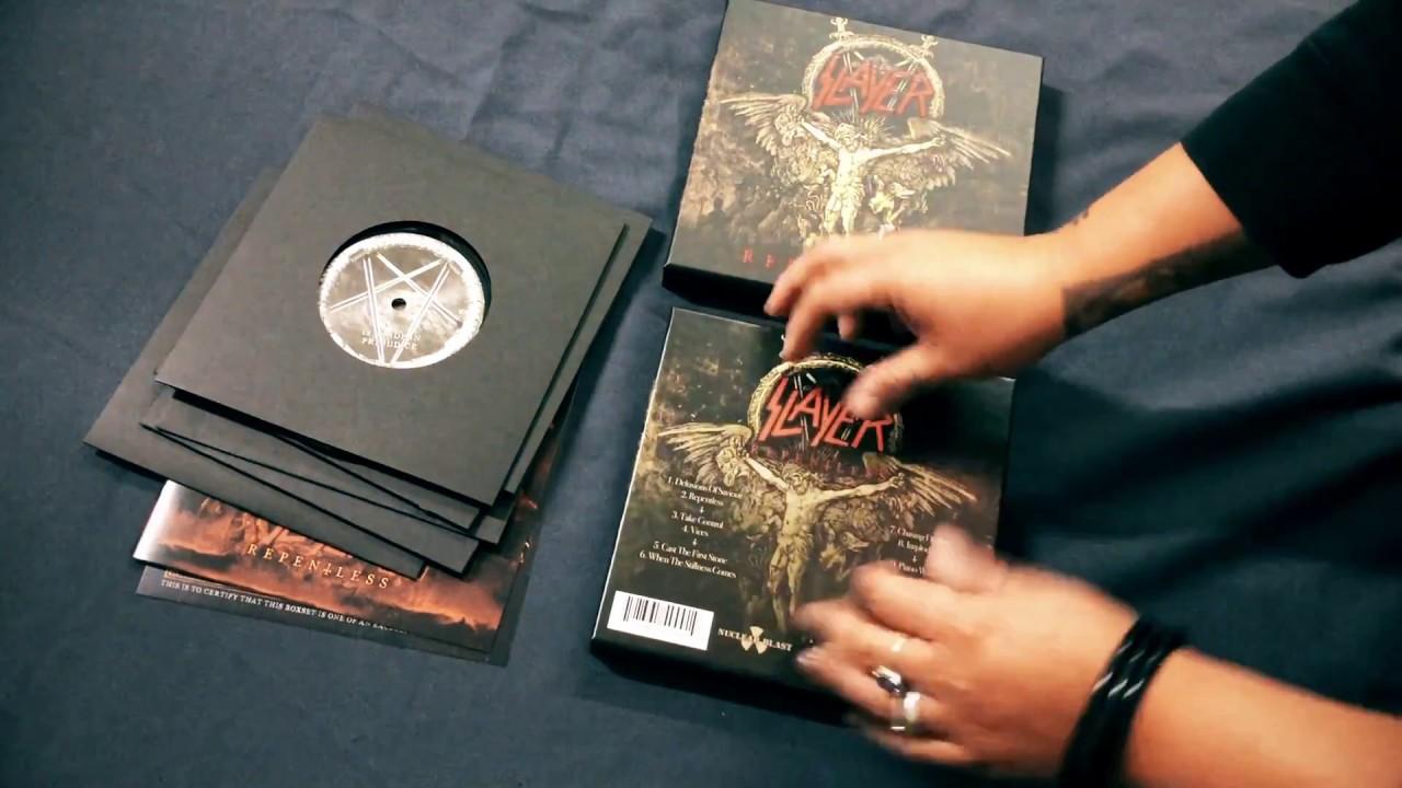 Slayer Unboxing Quot Repentless Quot 6 66 Inch Vinyl Box Set