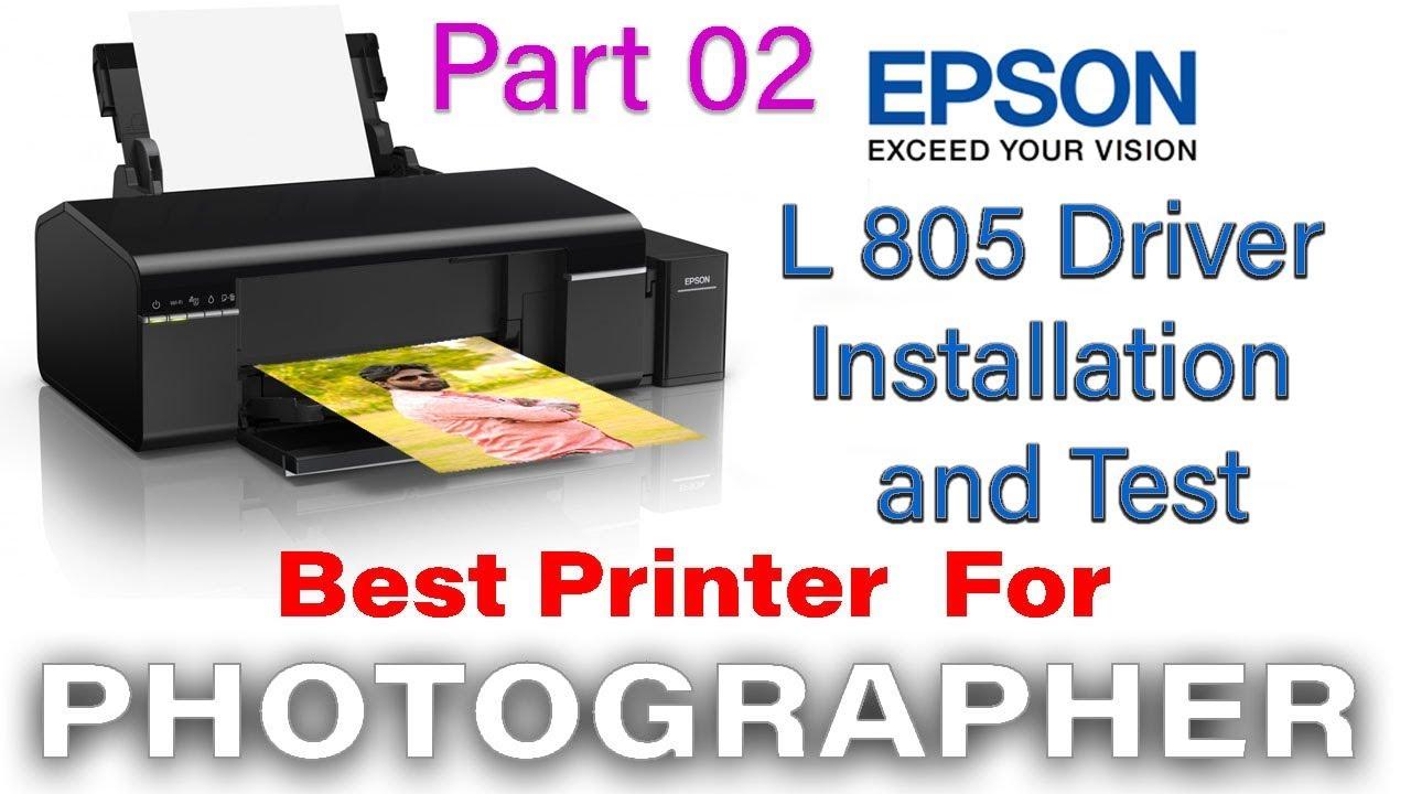 EPSON L805 PHOTO PRINTER | DRIVER INSTALLATION | IN HINDI Part 02