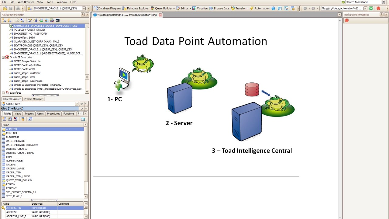 How to use automation scripts in toad data point youtube how to use automation scripts in toad data point ccuart Images