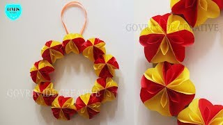 How To Make Paper Flower Wall Hanging   Diy Hanging Flower | Wall Decoration Ideas