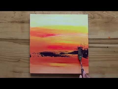 Simple & Easy Landscape Painting – Acrylic Paint