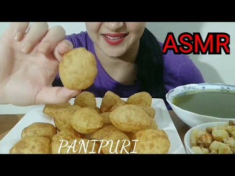 PANIPURI /GOLGAAPE ASMR| INDIAN STREET FOOD EATING SOUND | DETECTIVE BITES