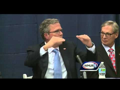 Raw Video: Jeb Bush speaks at business roundtable in Hudson