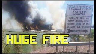 Huge Brush Fire Near Cibola Lake