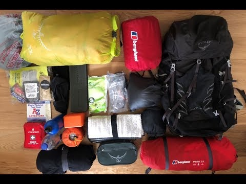 Backpacking Kit For Beginners | One Overnight Hike And WILD CAMP