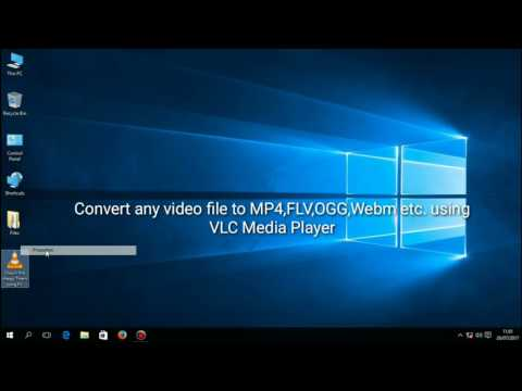 How to convert any video to mp4,flv,ogg,webm,wmv etc. with VLC Media Player