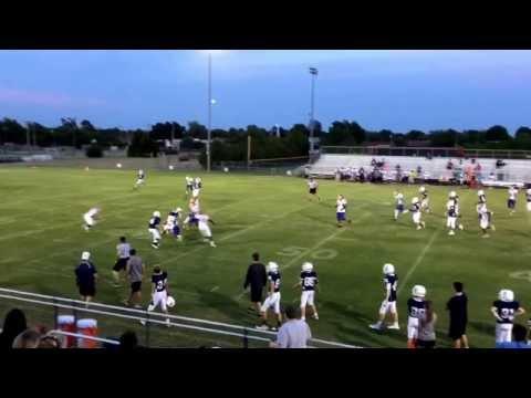 Parker Quillen, Casady School. 2019 QB/LB Casady JV vs. John Marshall. 9.14.15