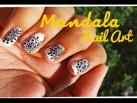 Mandala Nail Art With Sharpie Permanent Marker Youtube