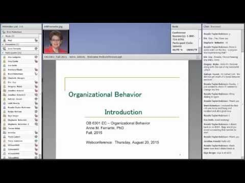 Organization Behavior and Executive Coaching Sample Class