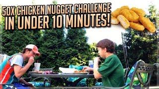 50x Chicken Nugget Challenge Under 10 Minutes