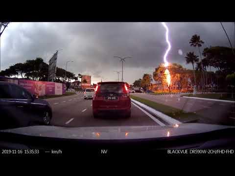 Lightning struck a
