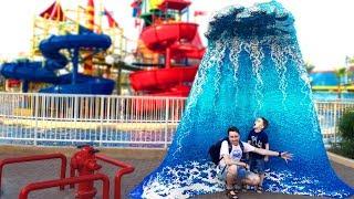 🏄 Челлендж НА ВОДНЫХ ГОРКАХ в Аквапарк Леголенд Дубай 💦 Изнанка ВЛОГ для детей